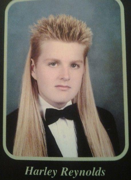 Harley S Hair In High School Yearbook Photo Massive Mullet