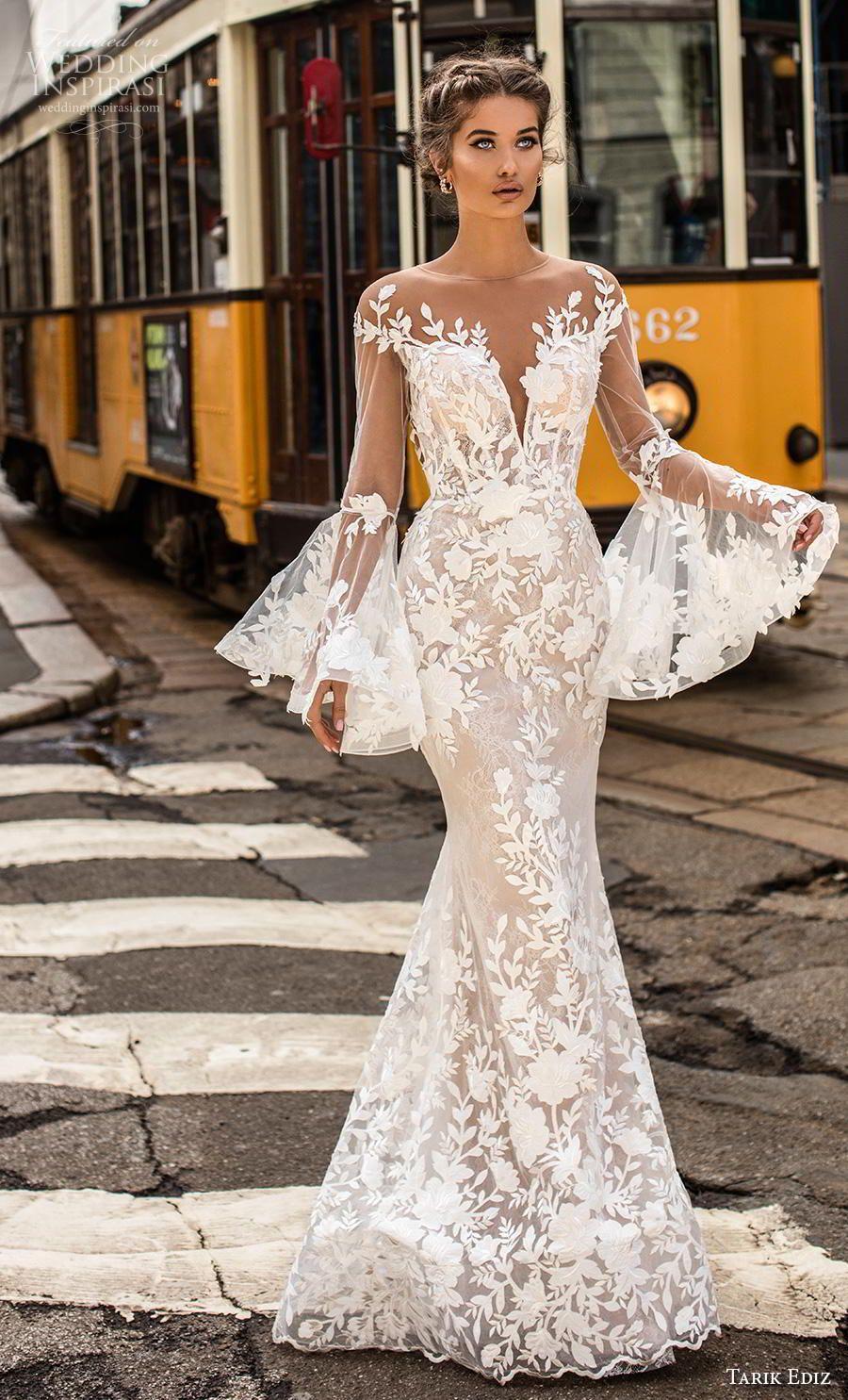 Amelia Sposa 2018 Wedding Dresses Wedding Inspirasi Long Sleeve Wedding Dress Lace Sheer Wedding Dress Mermaid Wedding Dress With Sleeves [ 1800 x 900 Pixel ]