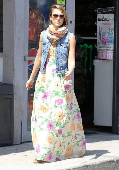 Flower maxi dress layer