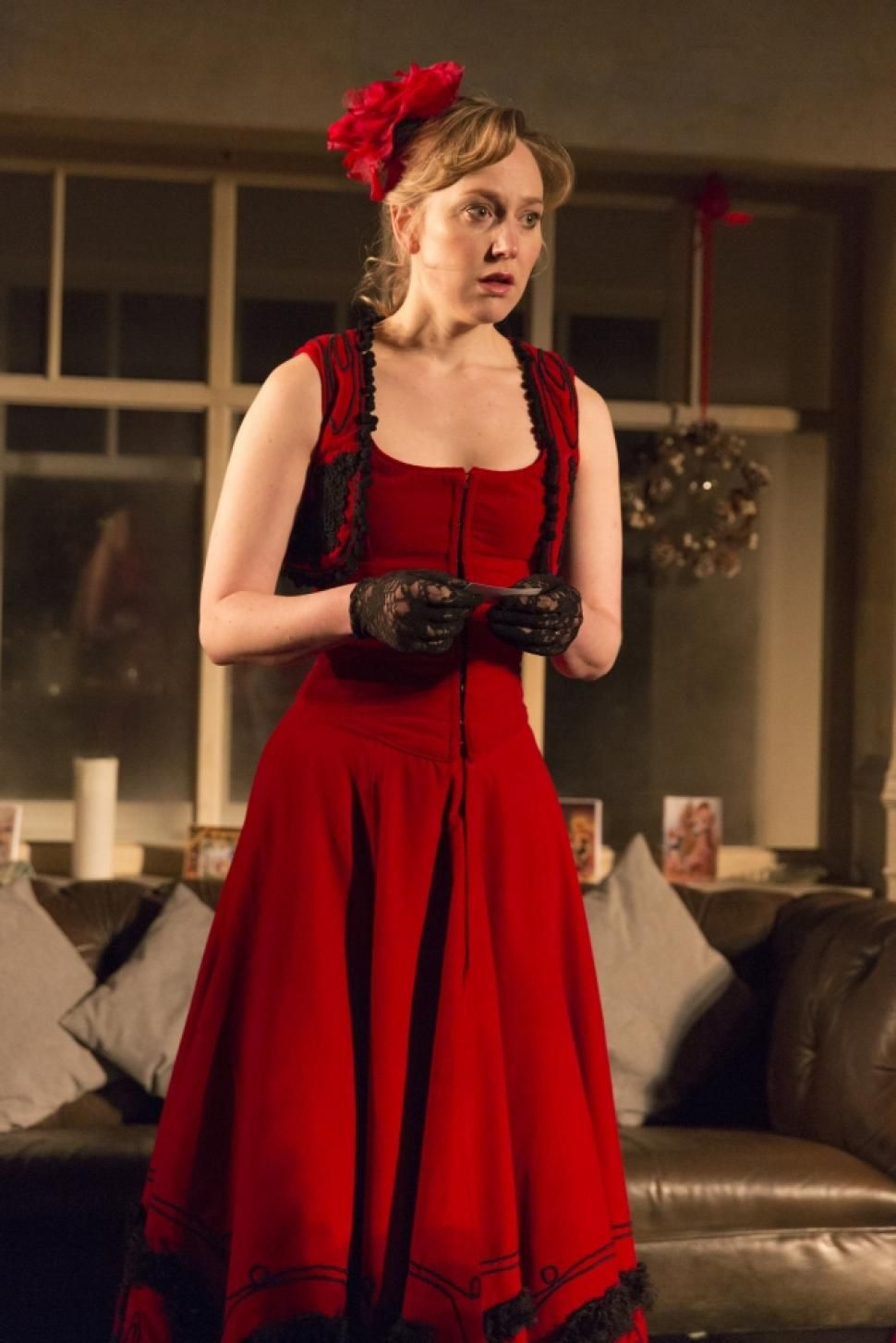 Young Vic Production Of A Dolls House At BAM Hattie Morahan As Nora Act 3