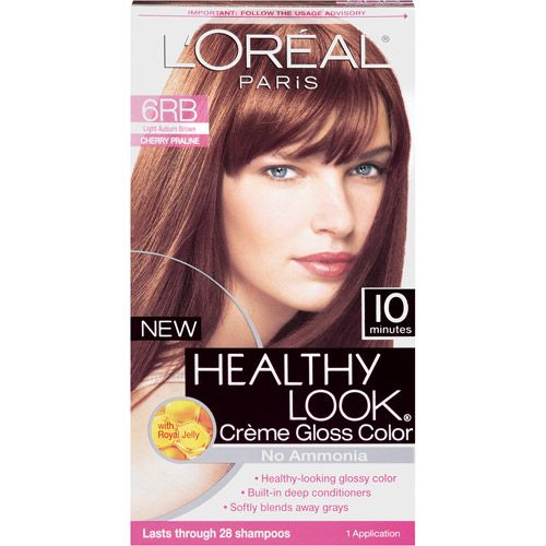 Light Shop Near Auburn: L'Oreal Paris Healthy Look Creme Gloss Hair Color, 6RB