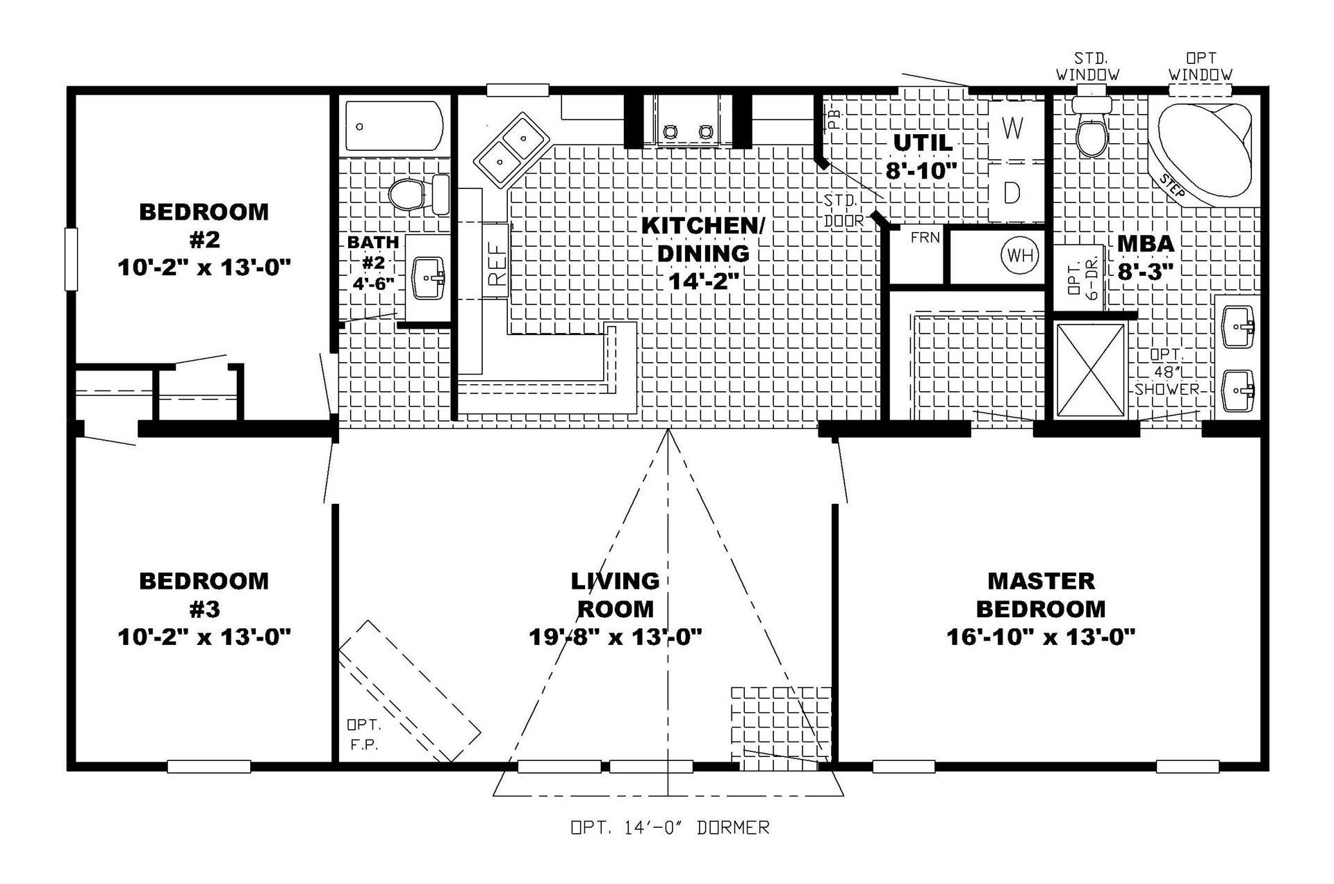 Ranch home floor plans open floor plans ranch house for Ranch basement floor plans