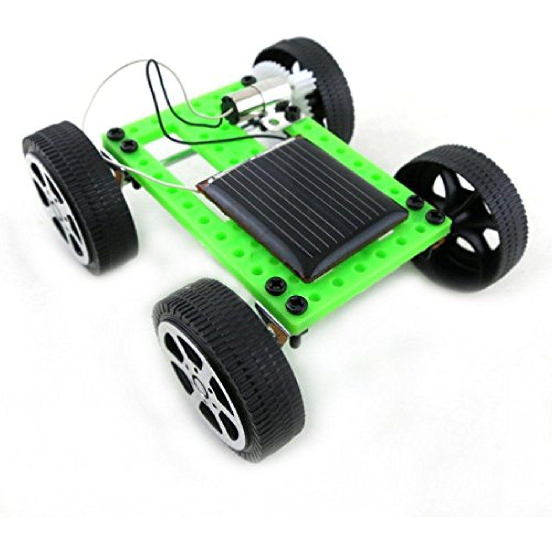 Mini Solar Powered Toy DIY Car Kit Children Educational