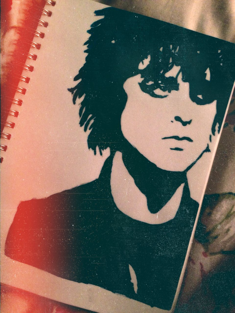 My own painting and edit of Billie Joe Armstrong Olivia