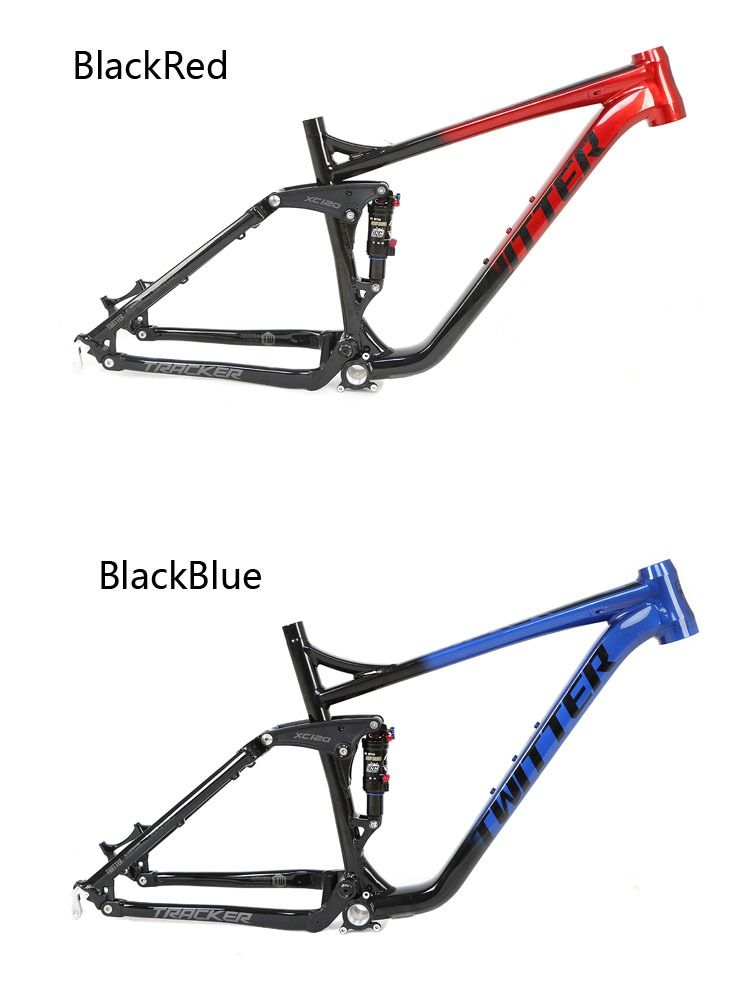 Twitter Newest Aluminum Full Suspension Mtb Frame Tracker Am 27 5