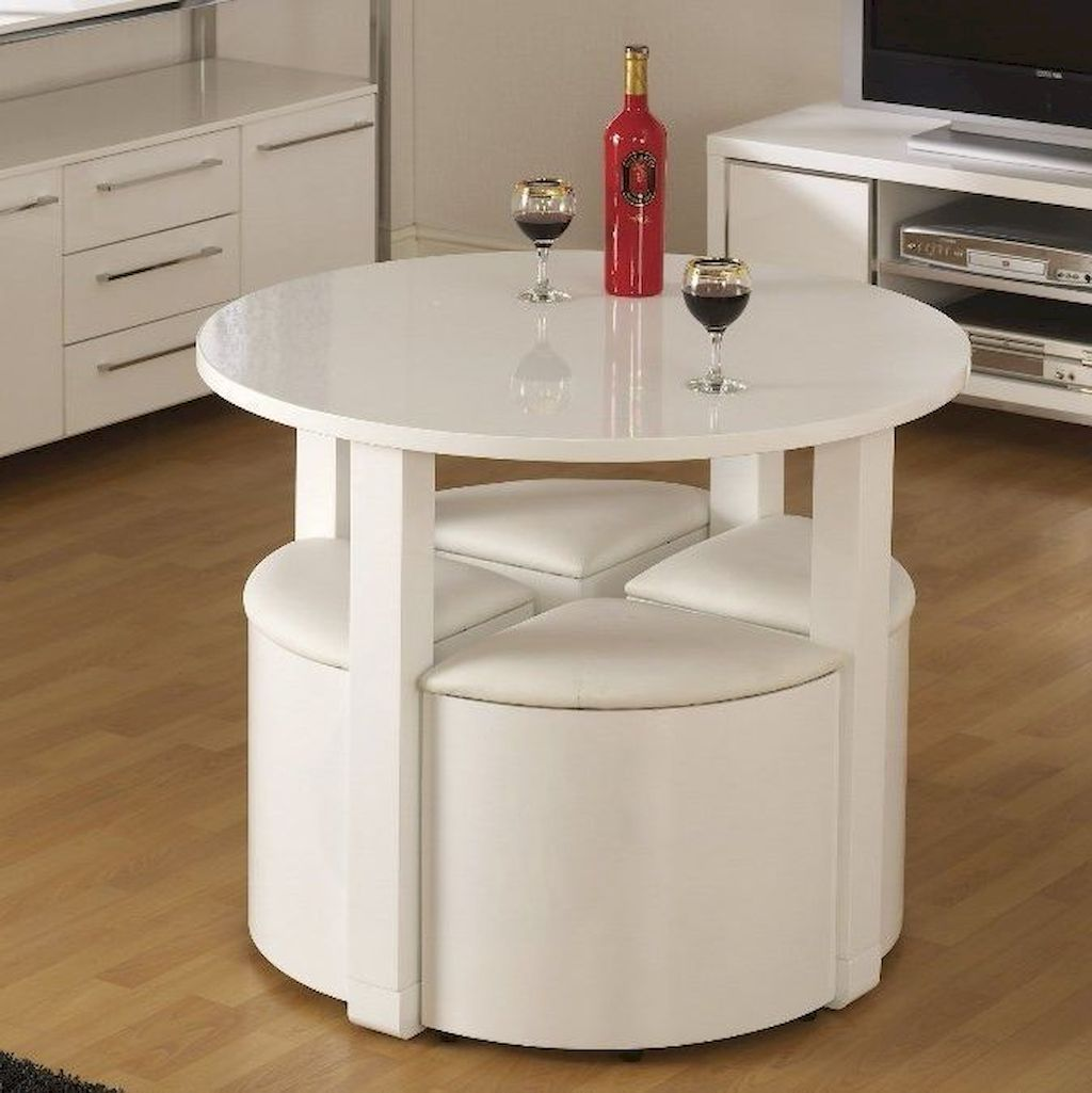 Stunning Space Saving Dining Table Oneonroom Small Dining Room