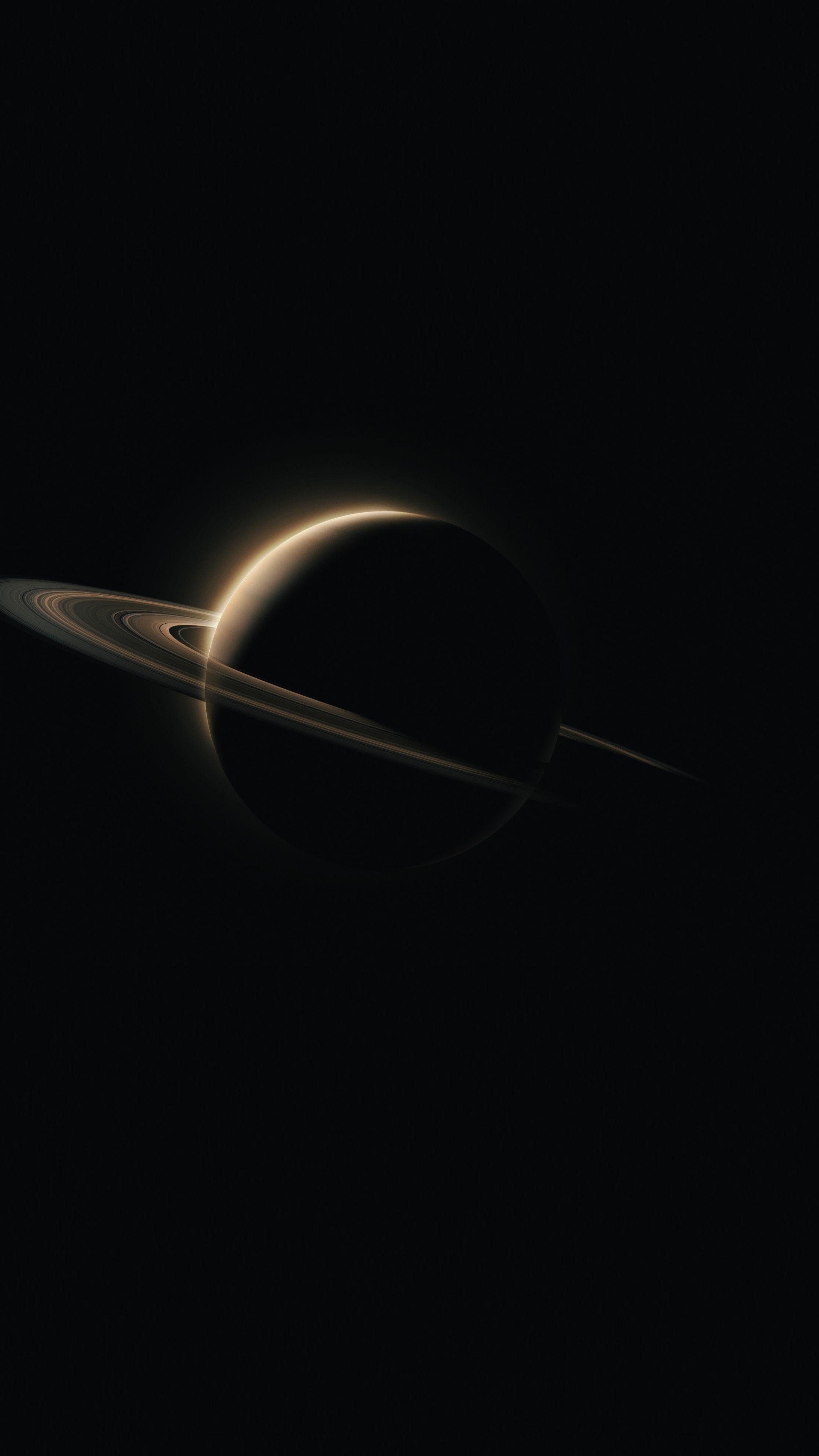 2160x3840 Saturn Planet Dark Wallpaper In 2019 Dark