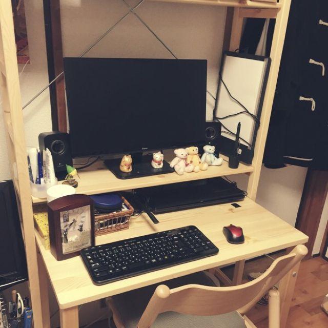 Hajimeさんの、無印良品,パイン材テーブル・折りたたみ式,パイン材