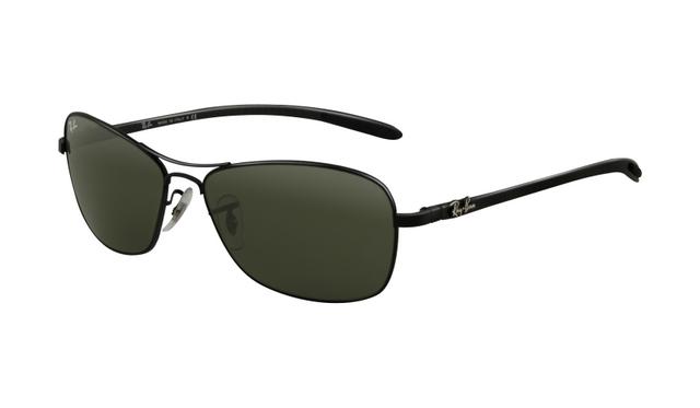 191475f911 Ray Ban RB8302 Tech Sunglasses Black Frame Crystal Green Polar ...