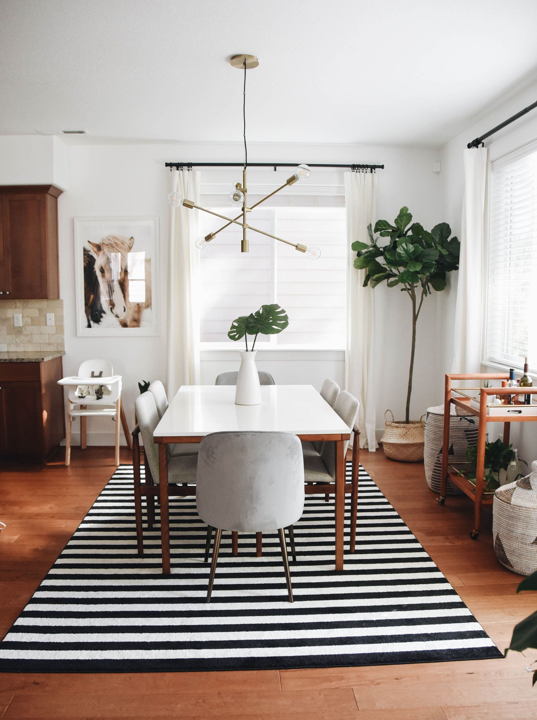 Dining Room Makeover with West Elm  Mid century modern dining