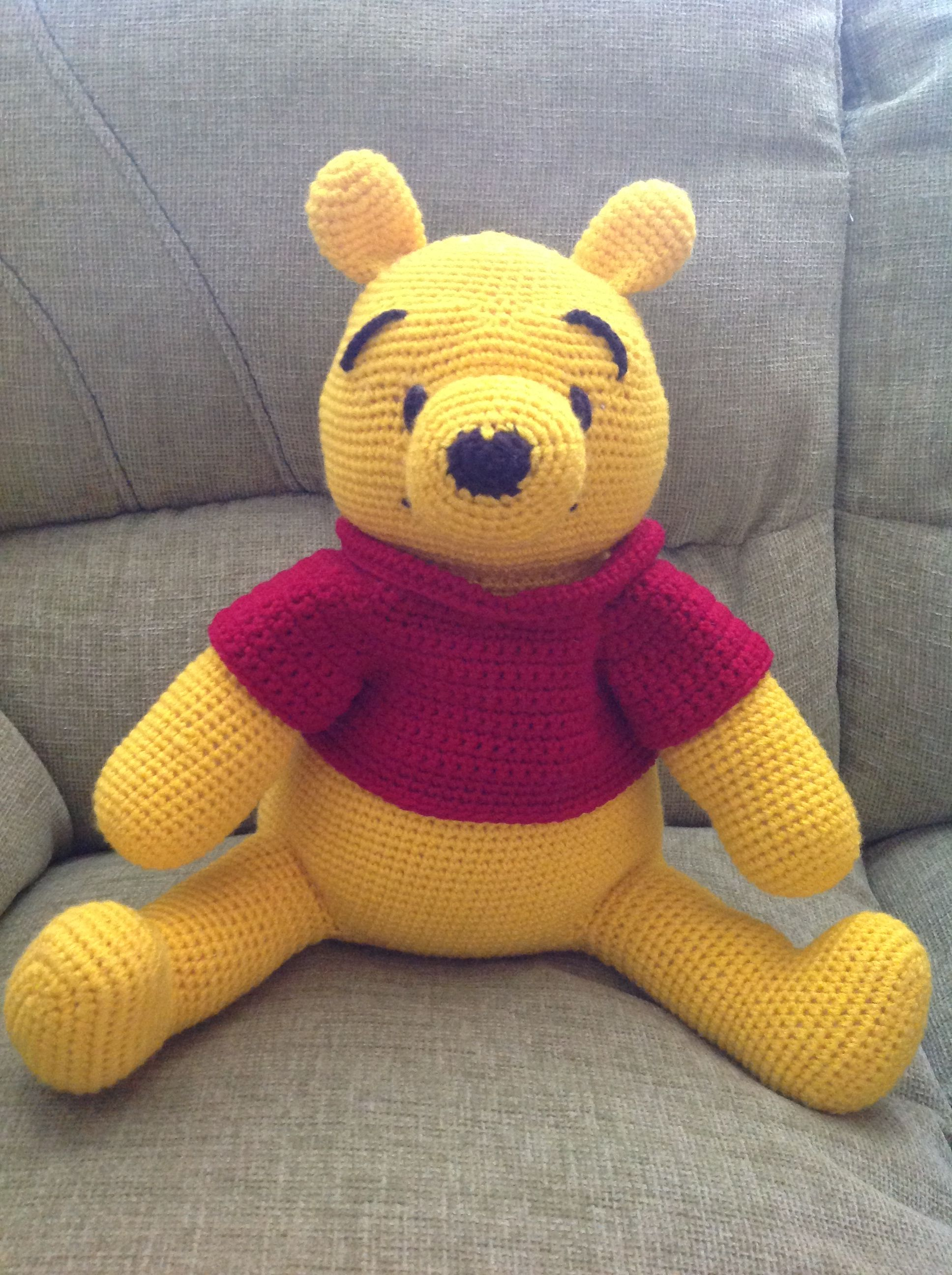Winnie the pooh oso amarillo crochet amigurumi