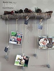 How To Turn A Tree Branch Into A Holiday Card Display