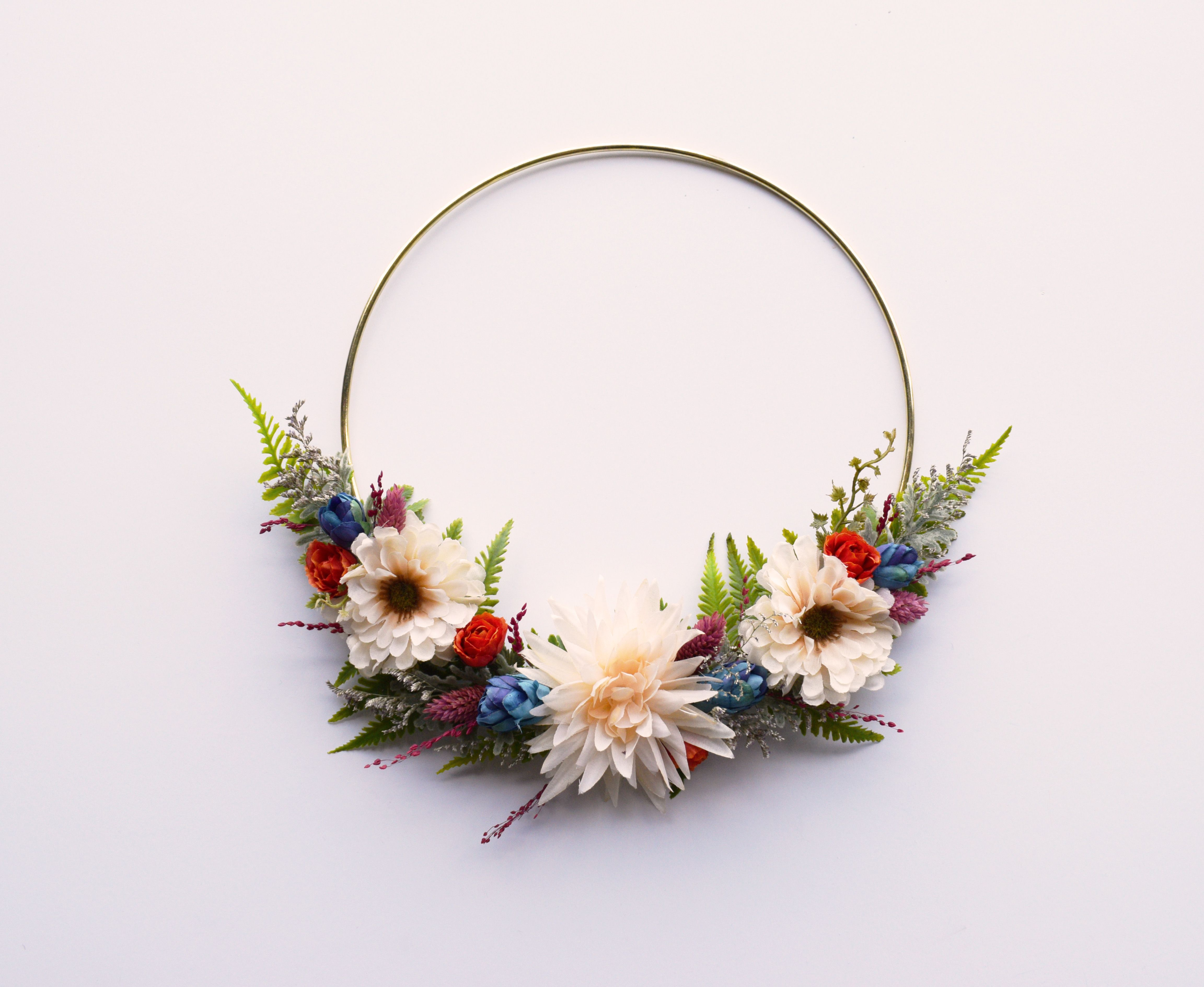 Dried flower wreath wedding modern gift home decor daisy