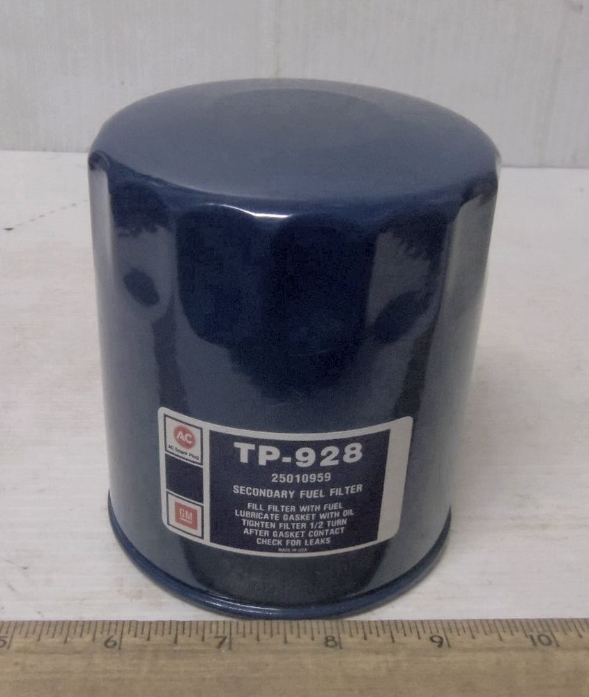 Vintage Gm Ac Spark Plug Secondary Fluid Fuel Filter Element
