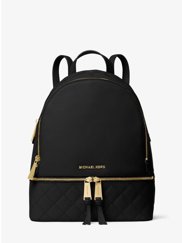 Michael Kors Rhea Medium Quilted-Leather Backpack | Handbags ...