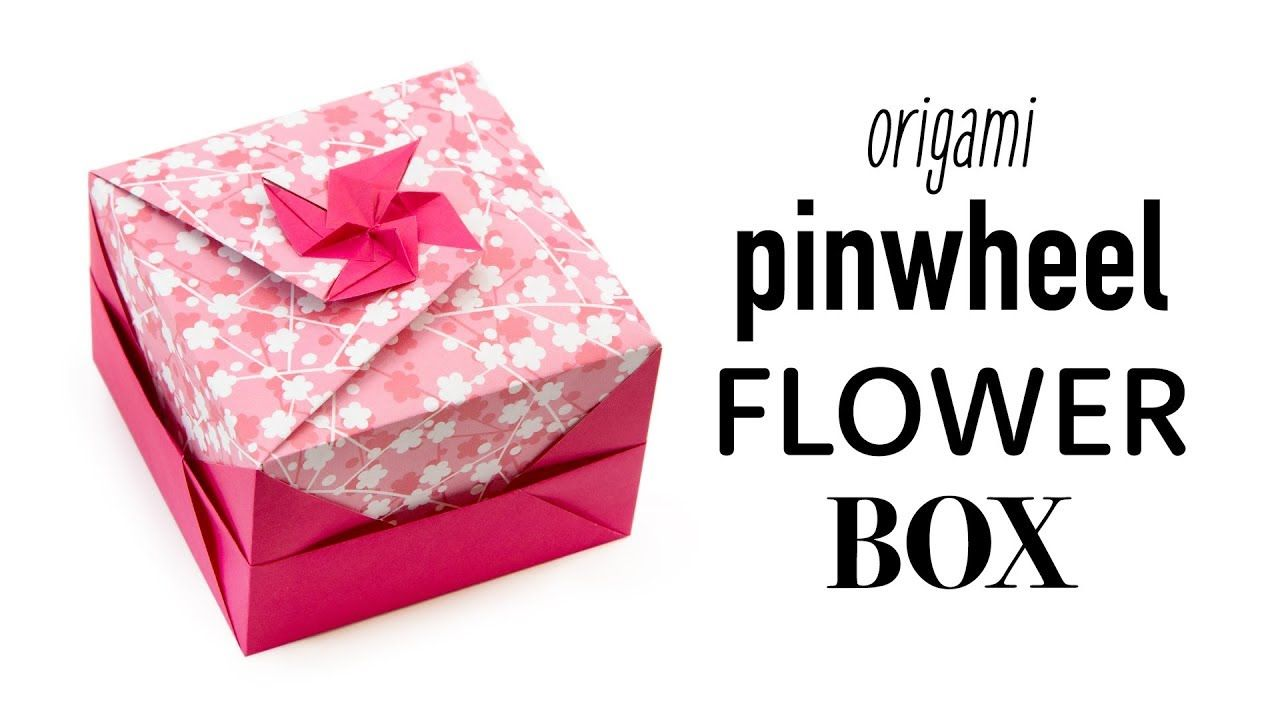 Pinwheel Flower Lid Tutorial Modular Origami Box Paper Kawaii Tutorials For Tomoko Fuse Boxes
