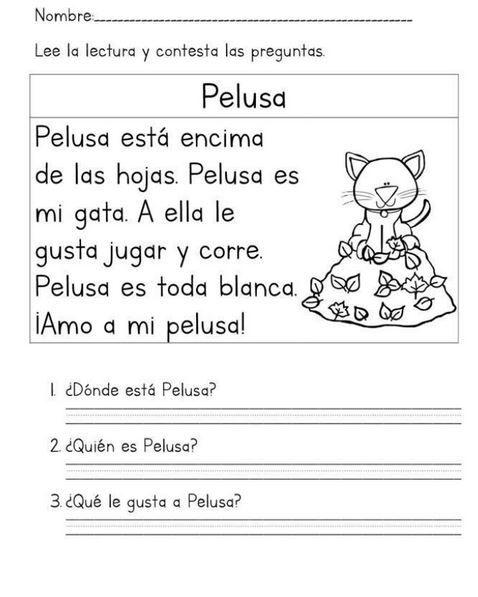 Cuaderno de Lectura y Escritura Lecturas Cortas para niños