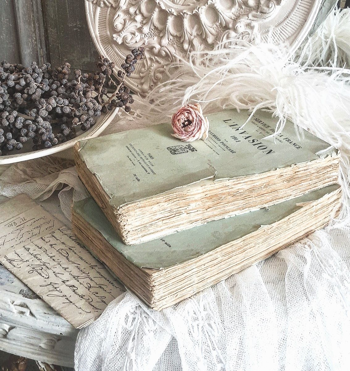 antique french books brocante charmante shabby vintage love pinterest shabby chic. Black Bedroom Furniture Sets. Home Design Ideas