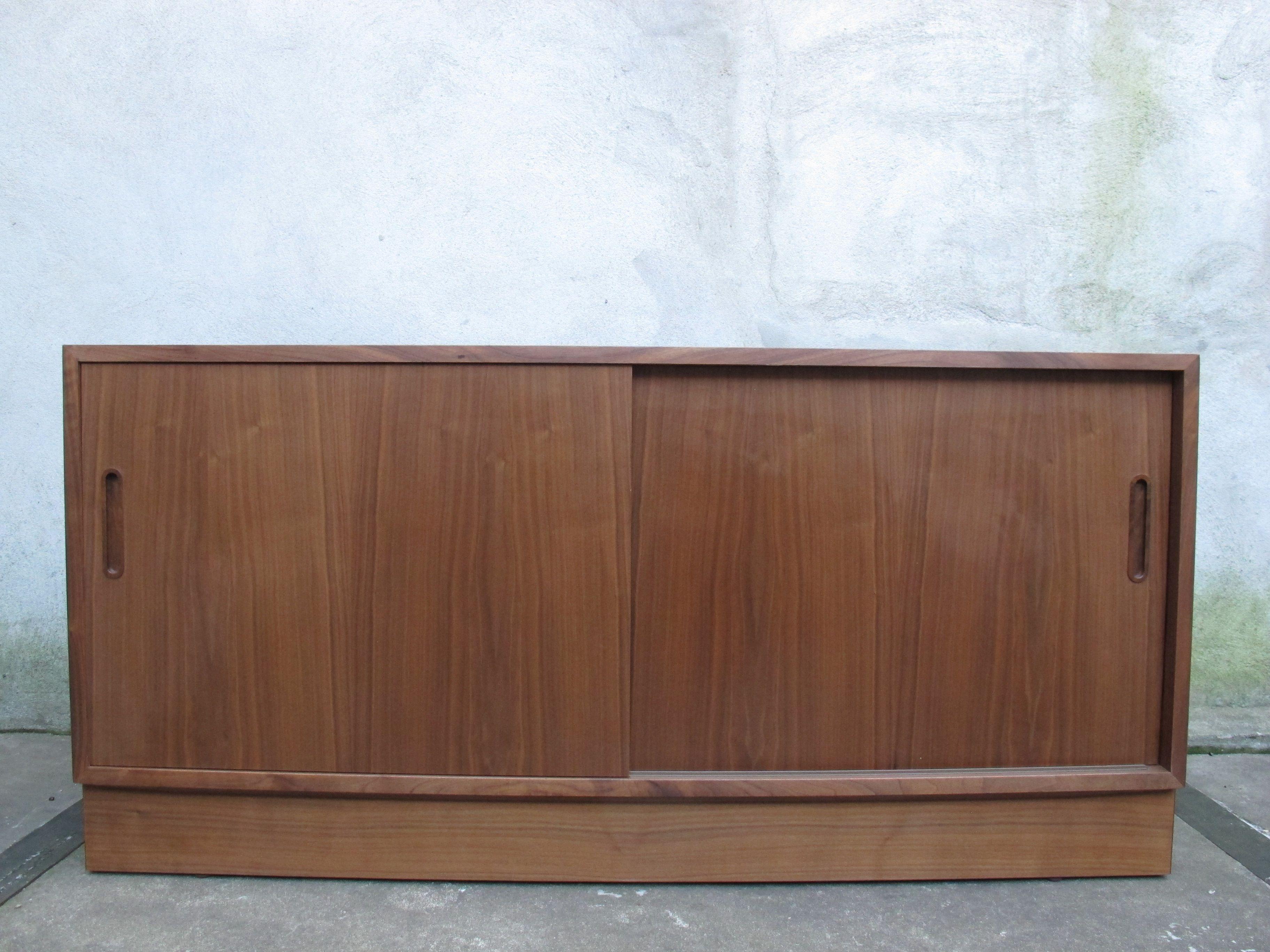 Danish Modern Teak Sideboard Cabinet By Poul Hundevad