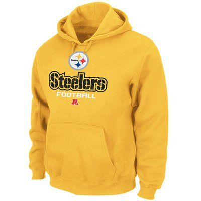 9b10eaf97 Pittsburgh Steelers Majestic Critical Victory V Pullover Hoodie – Yellow