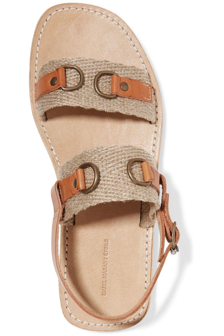 Shop onsale Étoile Isabel Marant Jess paneled leather and
