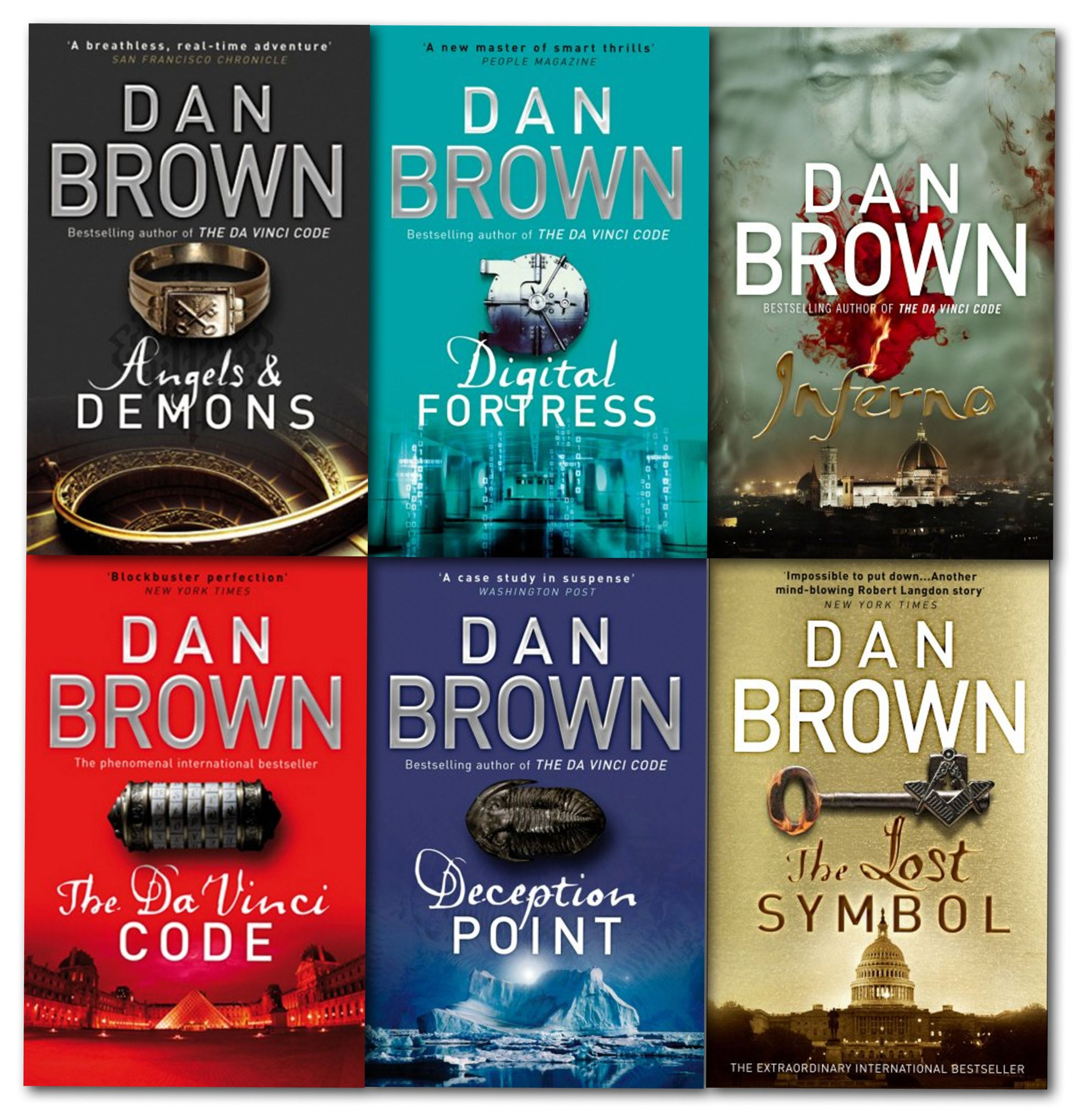 Dan brown 6 books collection set books pinterest book dan brown 6 books collection set buycottarizona