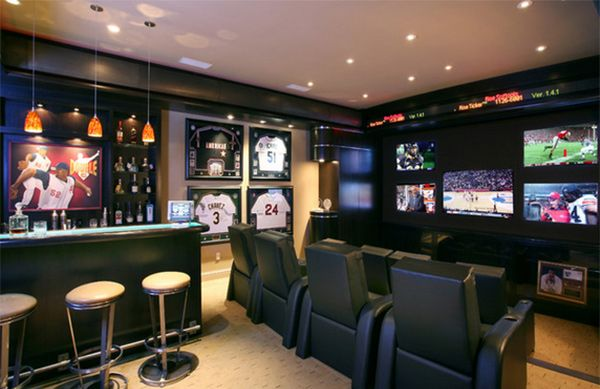 15 Interesting Media Rooms and Theaters With Bars #mediarooms