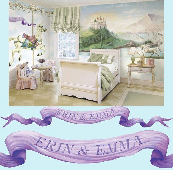 castle wall sticker | castle banner peel and stick custom wall mural