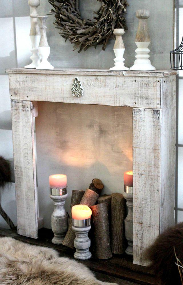 DEKOKAMIN LANDHAUS STYLE BY ANNY M HOME. Exklusive Kaminkonsole In  Massivholz. Farbeu0026#x3a