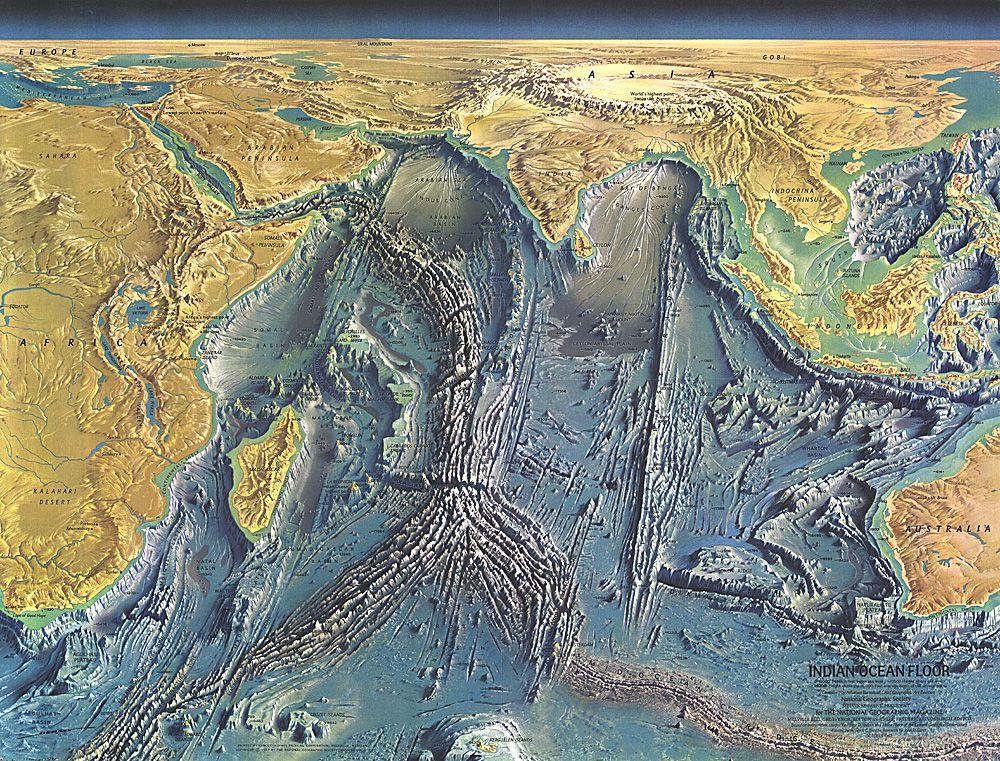 map of the sea floor Indian Ocean | Maps | National ... Pacific Ocean Underwater Map