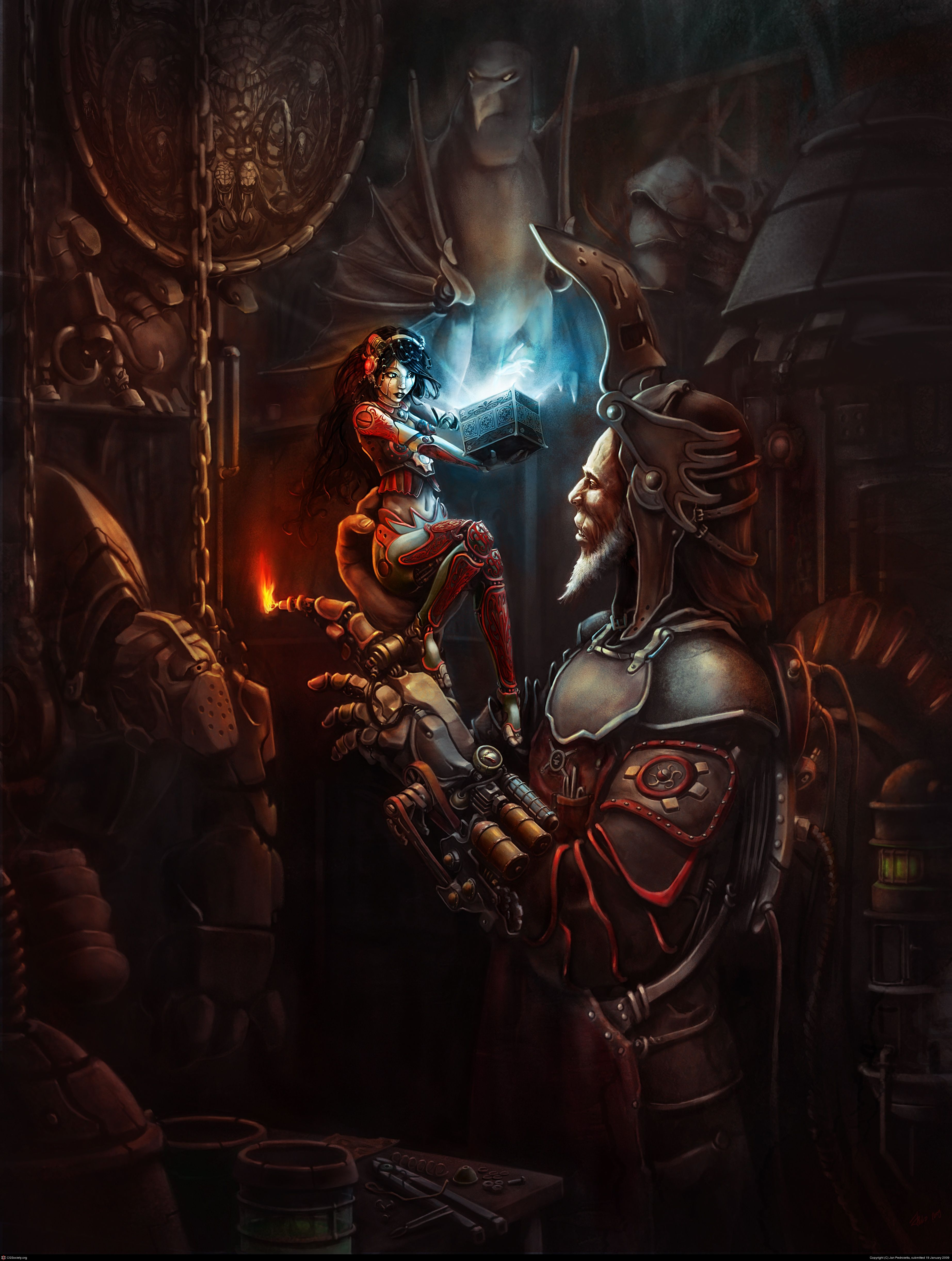 Fantasy Art Steampunk City