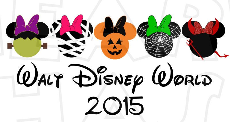 Halloween characters in Minnie Mouse heads INSTANT ...