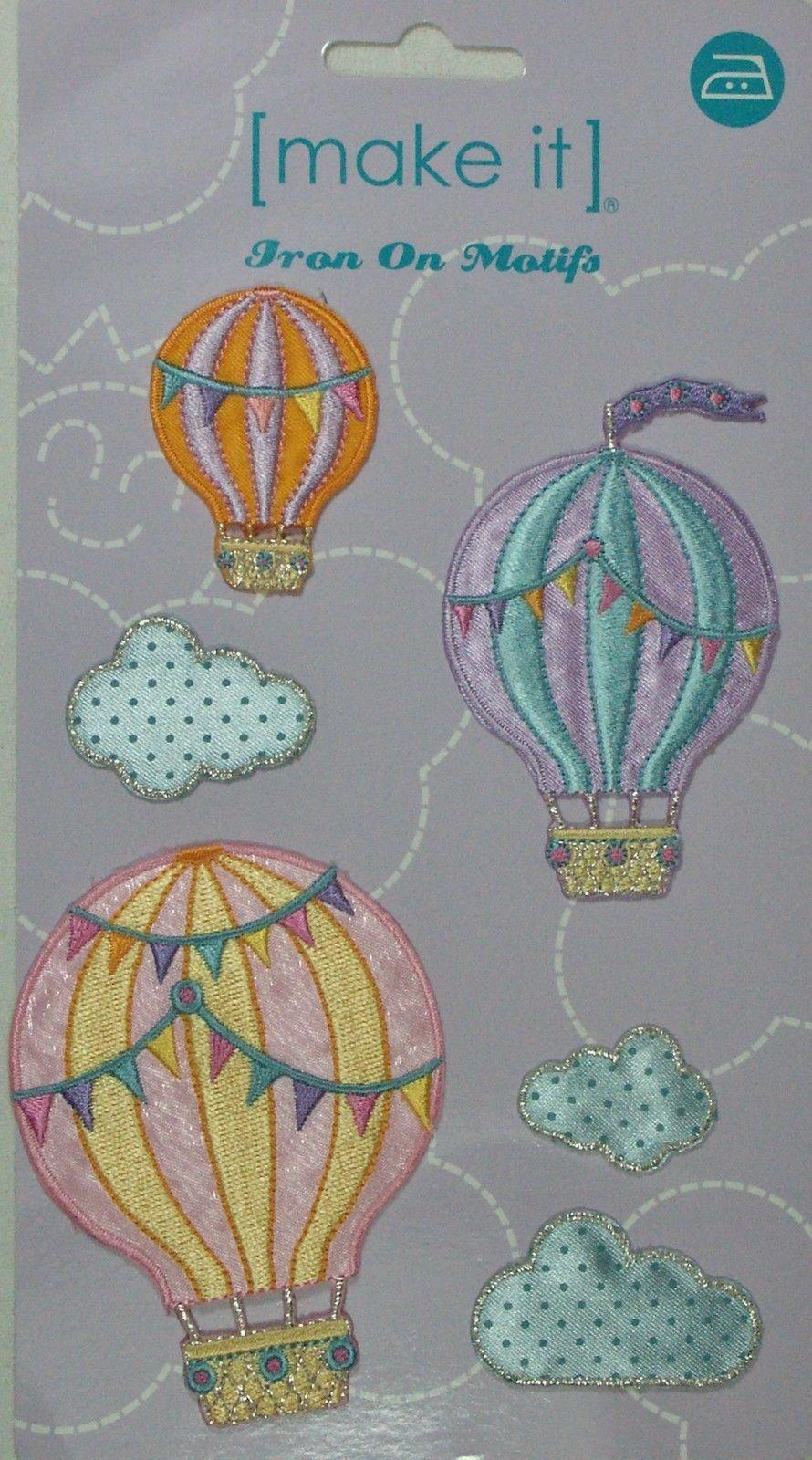 Jumbo Hot Air Balloons Motif Applique Patch Pack BM6064