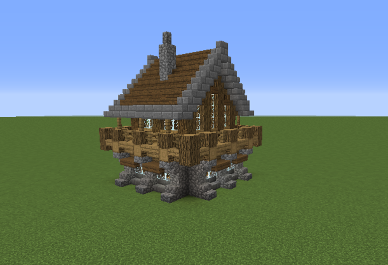 Medieval Rustic Log Cabin 1   GrabCraft   Your number one source for  MineCraft buildings  blueprints  tips  ideas  floorplans. http   www grabcraft com minecraft medieval rustic log cabin 1