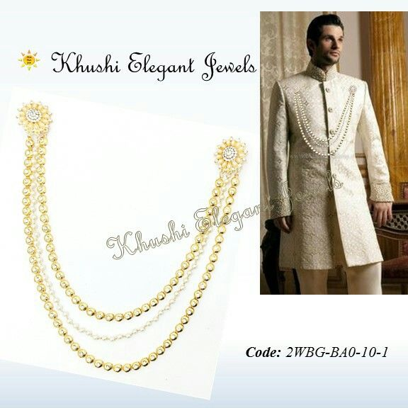 d2168f4f5e9f Long chain brooches add a royal touch when added on Sherwani Gives a  stylish look when added on Saaree  mensaccessories  weddingwear  forgroom   sareebrooch ...