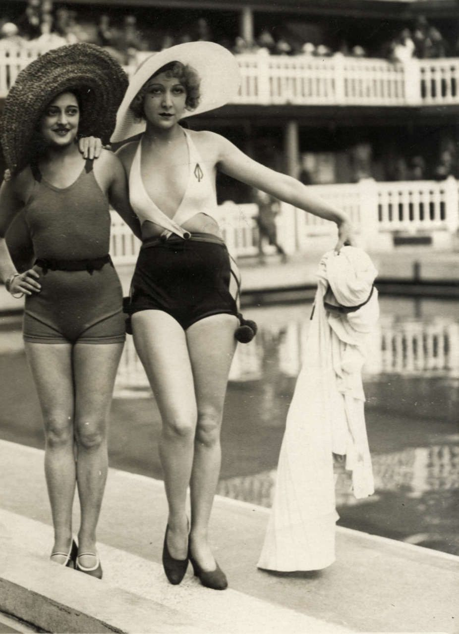 f410206ba9 1930 s bathing beauties. The one with the low neckline was ...