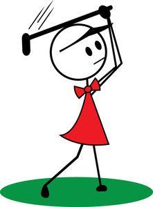 Stick Figure golf Clip Art | Golfing Clipart Image: Clip Art ...