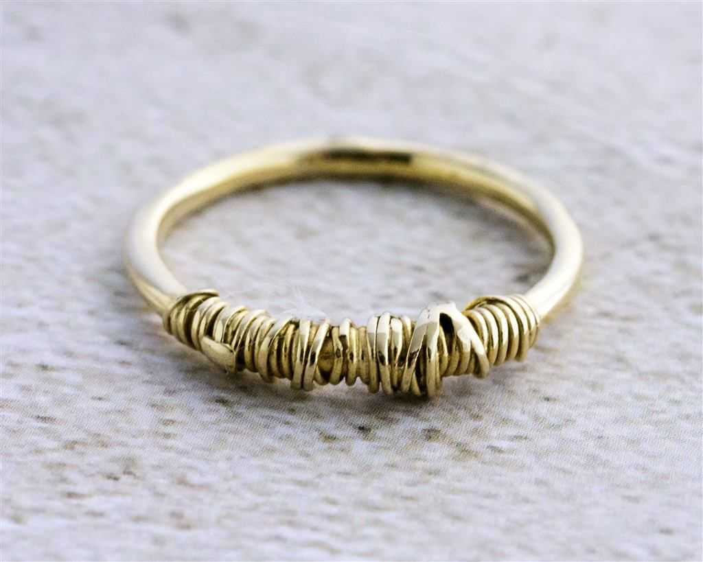 Gold Stackable Ring, Unique Stacking Ring, Gold Statement Ring ...