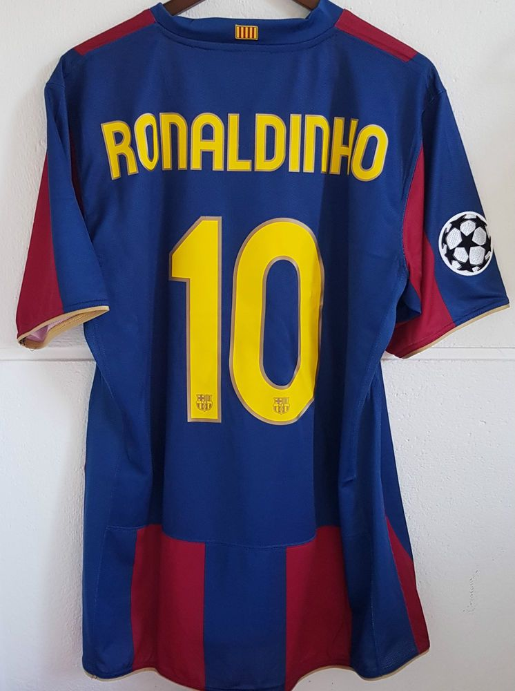 Ronaldinho Fc Barcelona Champions League 2007-2008 match worn shirt ... ce2cc25b6