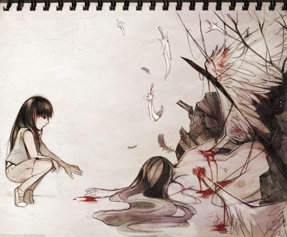 A Fallen Angel + by akirakirai on DeviantArt  Fallen angel, Angel