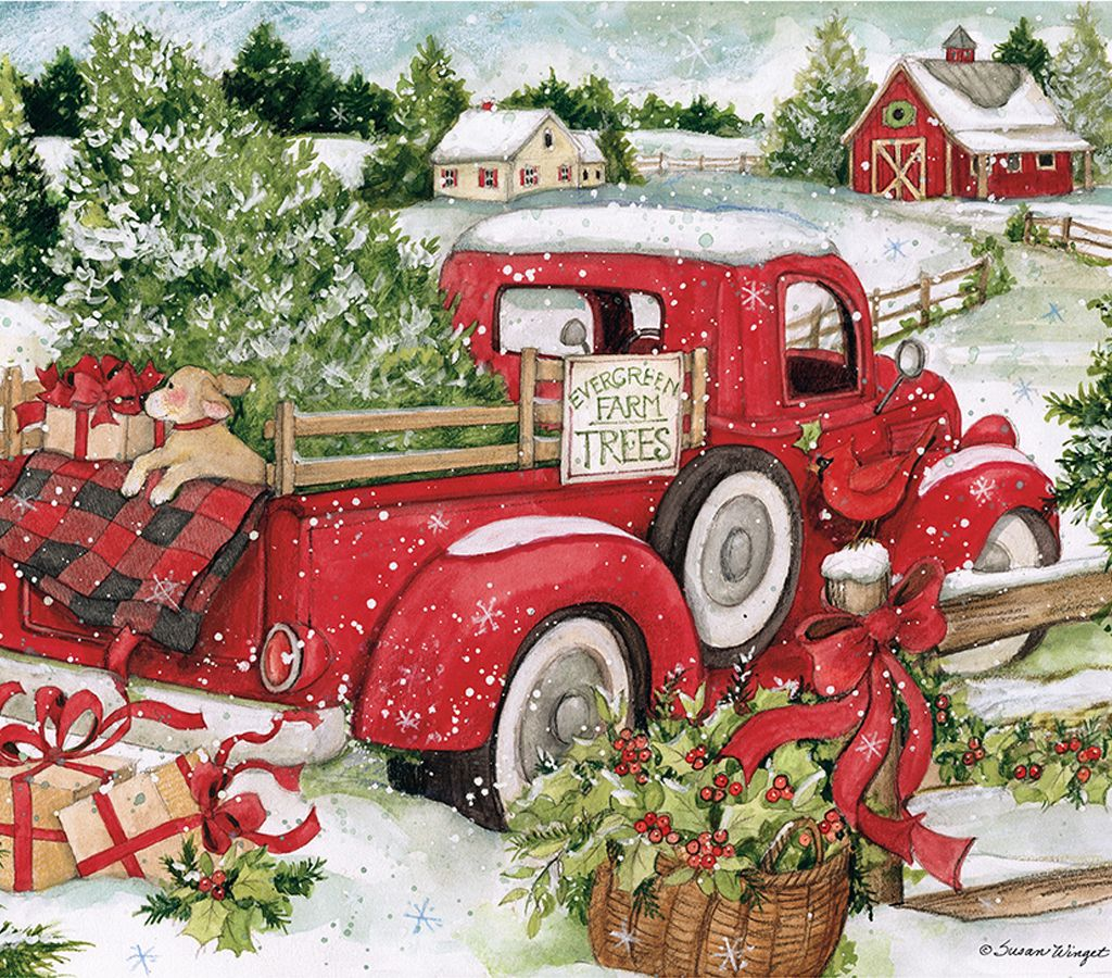 December 2020   Christmas red truck, Red truck, Christmas ...