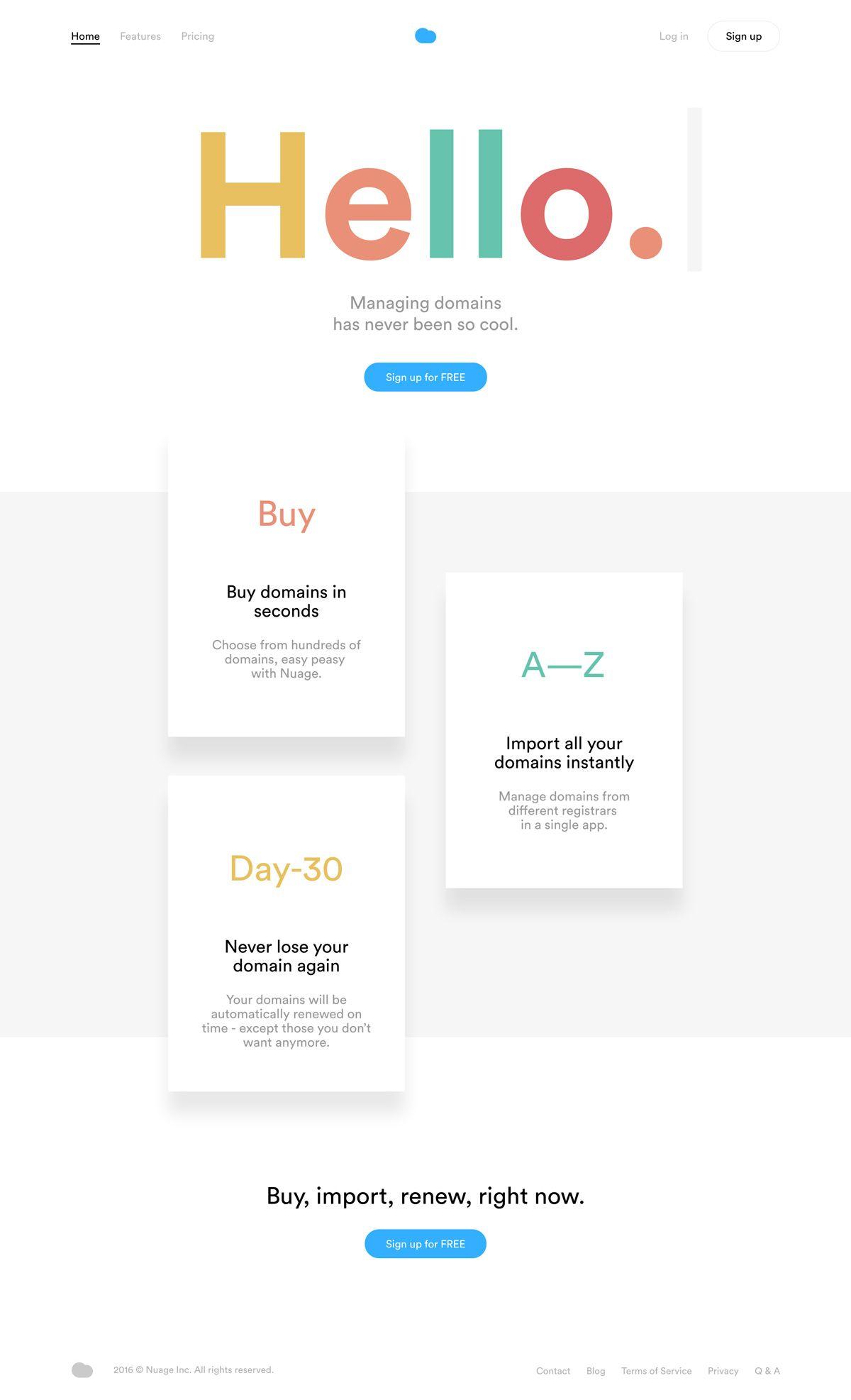 Nuage Mindsparkle Mag Web Design Web Design Inspiration Best Landing Page Design