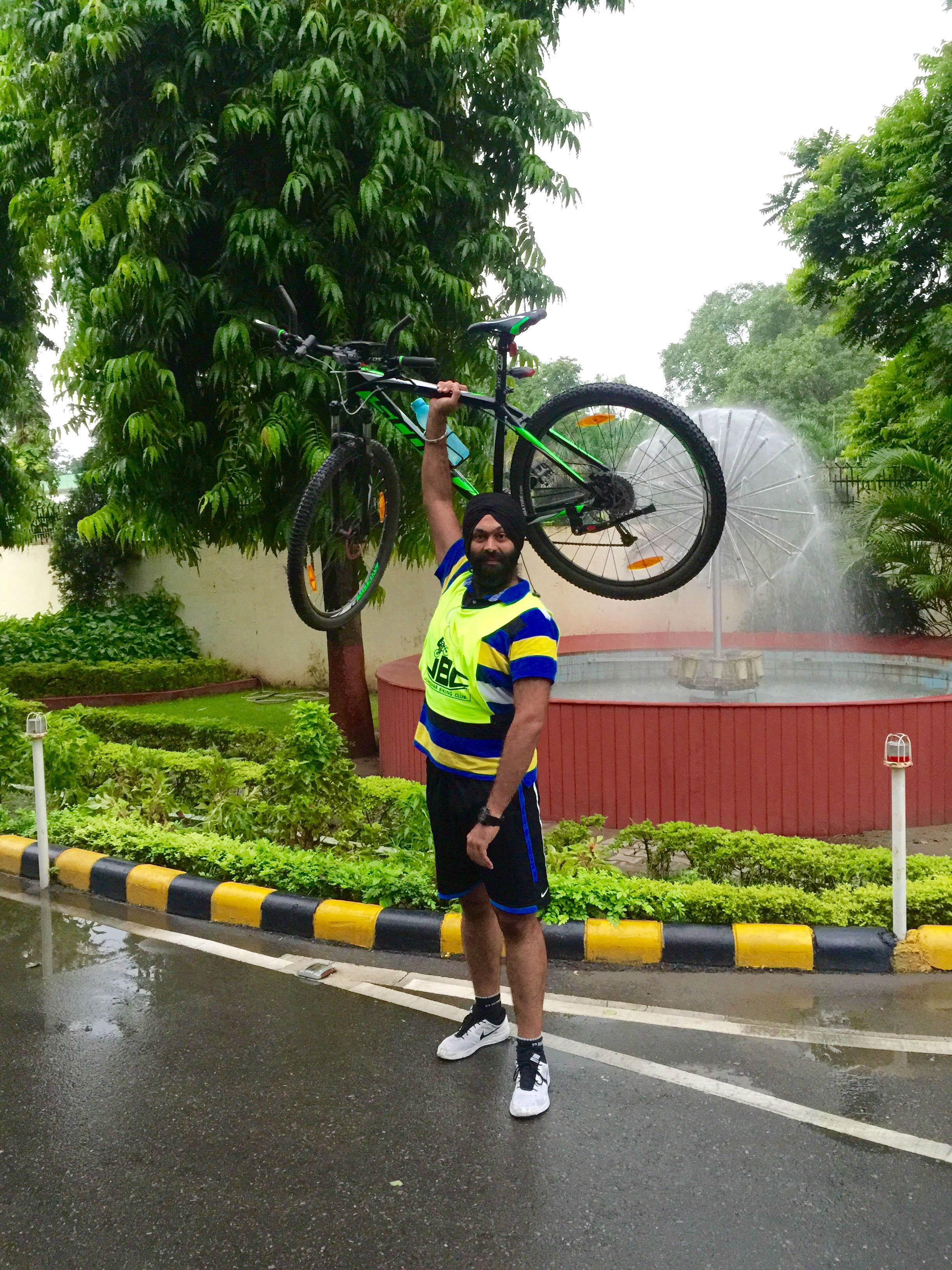 Rainy day riding, team JBC , India