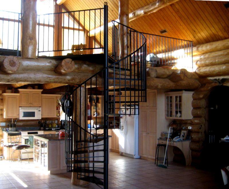 Best Spiral Staircase In Log Cabin Rustburg Virginia By 640 x 480