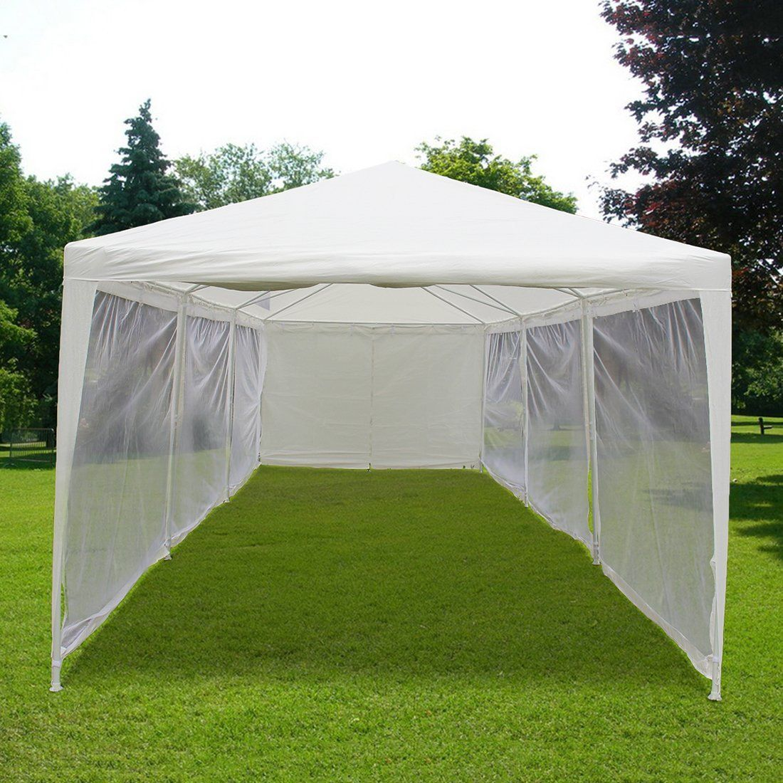 Amazon.com  Quictent 10u0027x30u0027 Outdoor Canopy Gazebo Party Wedding tent Screen & Amazon.com : Quictent 10u0027x30u0027 Outdoor Canopy Gazebo Party Wedding ...