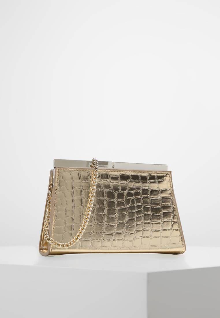 PARFOIS. PARTY BOX  - Clutch - gold. voering:textiel,polyester. materiaalverwerking:imitatieleer. sluiting:klikslot. patroon:dierenprint. wijdte:5.5 cm bij maat One Size. Draaghengsel:55 cm bij maat One Size. lengte:17 cm bij maat One...
