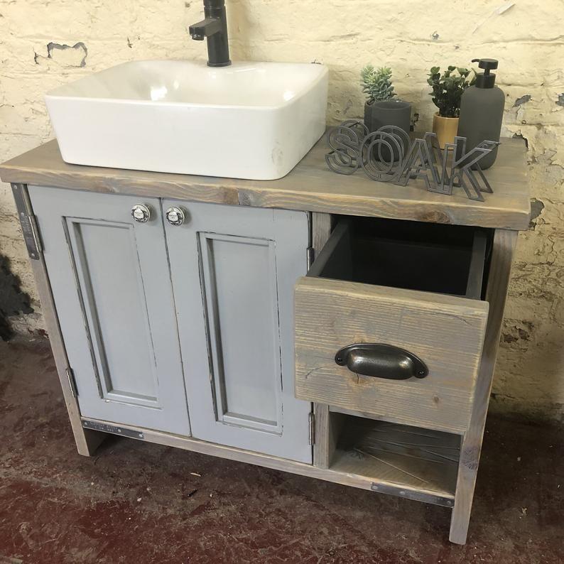 Edinburgh Painted Wooden Bathroom Cabinet Double Vanity Etsy In 2020 Wooden Bathroom Cabinets Bathroom Vanity Renovation Vanity