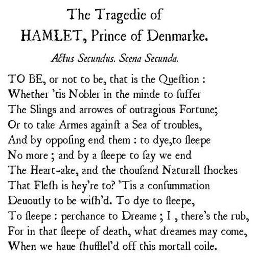 To Be Or Not To Be Shakespeare Quotes Shakespeare