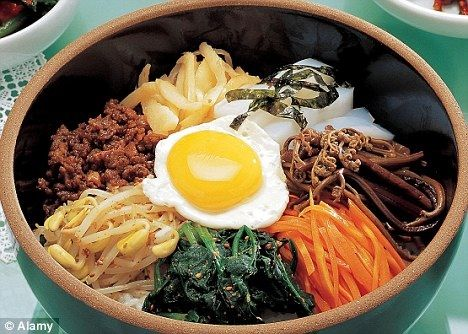 the famous korean dish bibimbap beef pork dishes. Black Bedroom Furniture Sets. Home Design Ideas