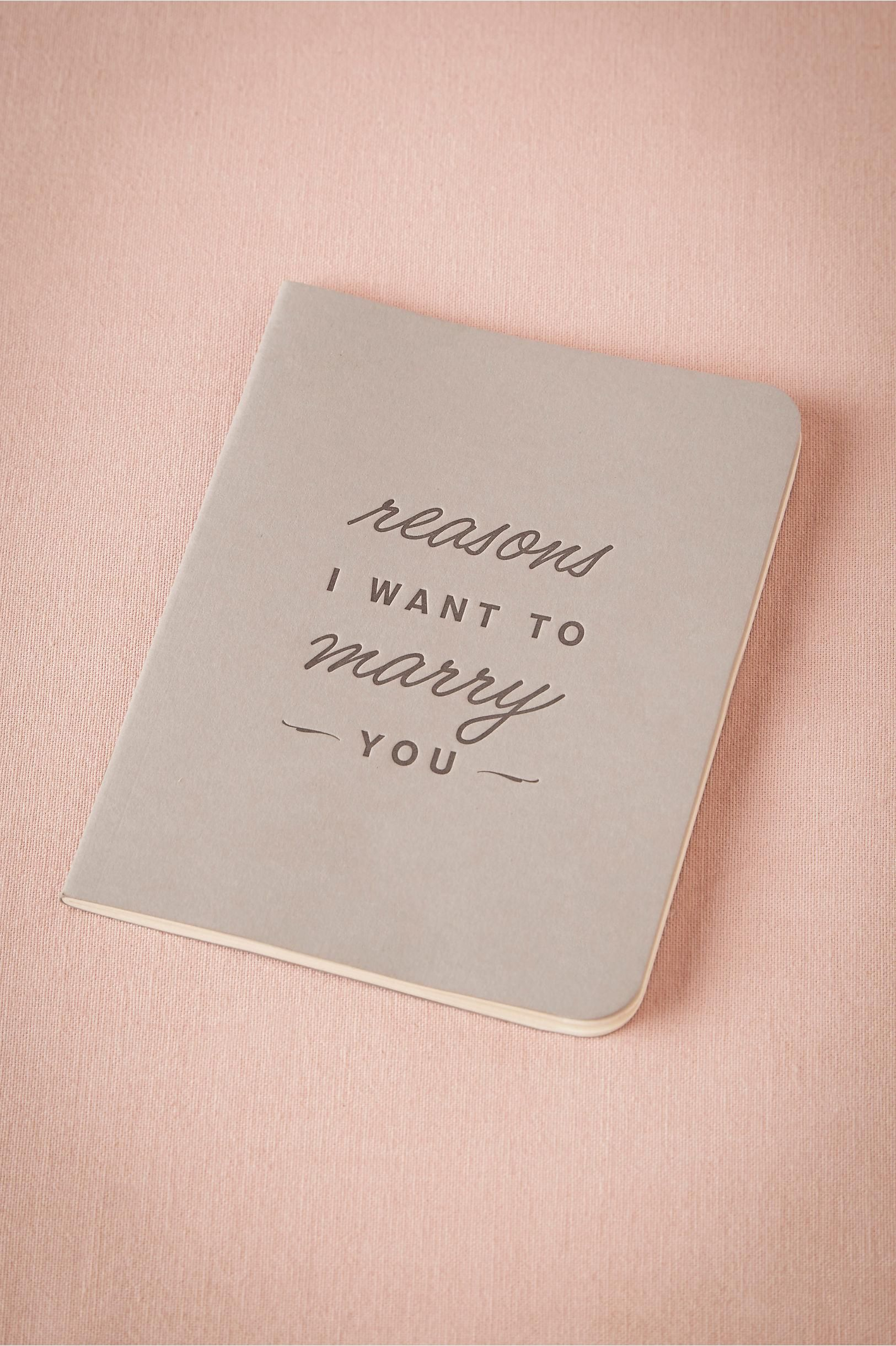 Reasons I Want to Marry You Journal from BHLDN | City Hall ...